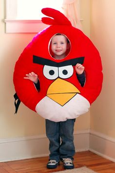 DIY tutorial for Angry Birds Costume for under $7!