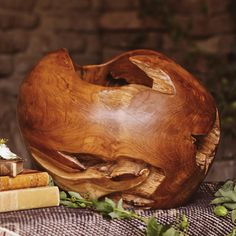 Teakwood Root Bowl - Wood artisans in Central Java, Indonesia, made this bowl entirely by hand using only the finest teakwood root. / Craft by World Market