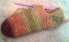 Free Basic Crochet Slipper Sock Pattern