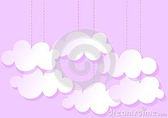 (C) Celia Ascenso - Hanging Clouds Pink Greeting Card.