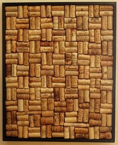 """""""Cork"""" corkboard   .....  for photos, notes, etc.  Great re-use!"""