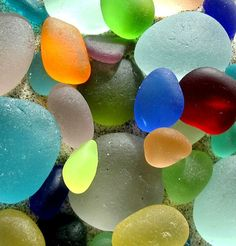 sea glass.