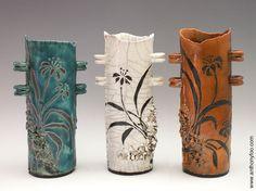 Summer Grasses Raku Vase Series Anthony Foo