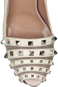 Studded leather pumps by Valentino