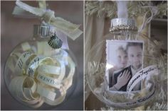 Make your own personalized First Christmas Ornaments