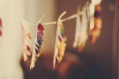 Magical Paper Turkey Feathers | Aunt Peaches