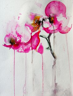 """Saatchi Online Artist: Karin Johannesson; Watercolor, 2013, Painting """"Orchid study IX"""""""