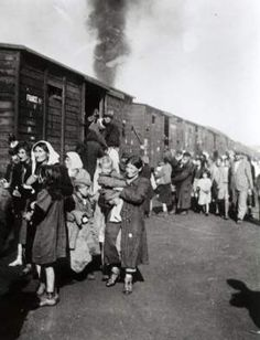 Jews board a train in Siedlce that will take them to Treblinka.  Not a Konzentrationslager or Concentration Camp, Treblinka was a Vernichtungslager, or Extermination Camp. The sole purpose of the camp was the destruction of human life.