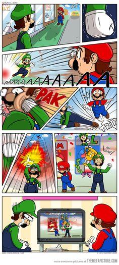 Luigi never wins.