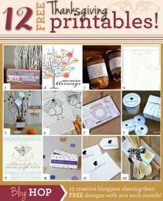 12 FREE Thanksgiving printables from @Matty Chuah Crafting Chicks #Thanksgiving #printable