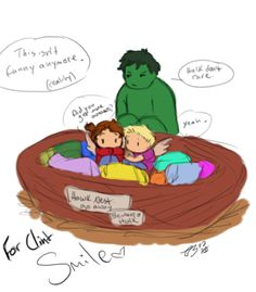 They're hiding in the nest again…  I'm going through hell week at school and Clint isn't feeling well, thus we are hiding in our nest and anyone who has a problem with it can talk to Hulk.  Smile, Clint! I looooooooooove you <3