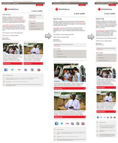 British Red  Cross email which has been optimized for tablets and mobile phones using Responsive Email Design