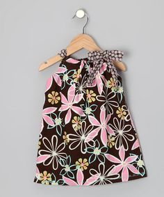 Take a look at this Brown Fun Floral Shift Dress - Infant, Toddler & Girls by Sew Me a Memory on #zulily today!