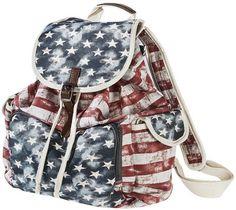blue, american flag, flag backpack