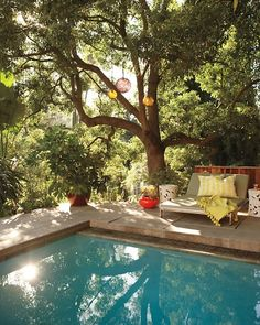 Love shade trees near pools. I'm sure I would love them less if I ever had to clean the leaves out of the pool, but in daydreams you don't have to do chores like that. :)