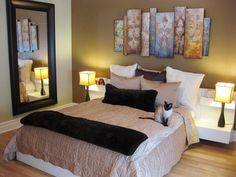mirror, bedroom apartment decor, realistic bedroom, apartment decorating bedroom, apart bedroom