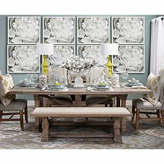 Rencourt Extension Dining Table - White Wash | Dining-tables | Dining-room | Furniture | Z Gallerie
