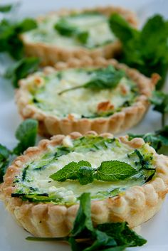Mini Zucchini, Feta & Mint Quiche