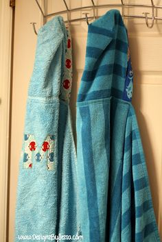 Hooded Towel Tutorial at Designs by Sessa. These would make awesome gifts.