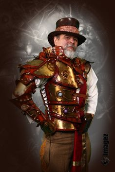 RESERVED For Capt Gannon - Emperors Armor of Empowerment - Steampunk Full arm half torso