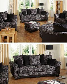 Jessica fabric range #pattern #black #grey