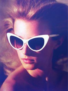 fierce cat eye sunglasses.