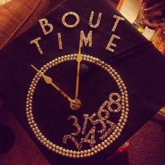 Graduation cap-- inspiration by Pinterest clock :)) #graduation2013