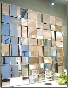 *Multi Facet Square Wall Mirror 100cm x 100cm best seller