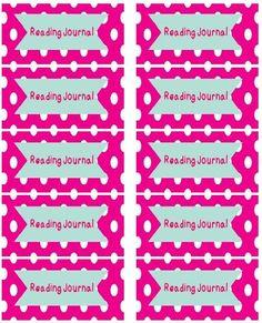 A Modern Teacher: Fun Reading Journal Labels- Free!