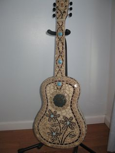 mosaic guitar by drenfrew on Etsy, $625.00