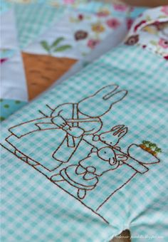 Carrot baking embroidery