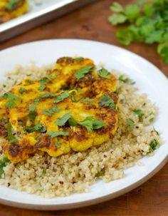 #Recipe: Cauliflower Steaks with Ginger, Turmeric, and Cumin