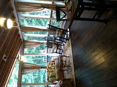 Beautiful screened in porch - curtains add such a romantic feel