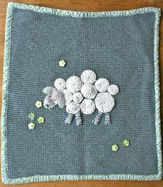cute crocket baby blanket with sheep  www.draugiem.lv