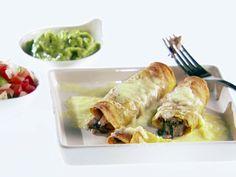Turkey and Spinach Taquitos Recipe : Giada De Laurentiis : Food Network - FoodNetwork.com