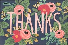 Hi, new followers getting us started in Pinterest: thank you!  You guys are wonderful.  Happy Monday!   Rifle Coral Navy Floral Thank You Postcards