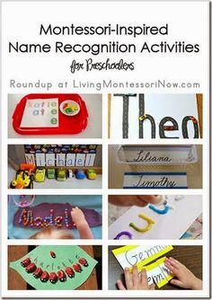 Montessori-Inspired Name Recognition Activities for Preschoolers #preschool