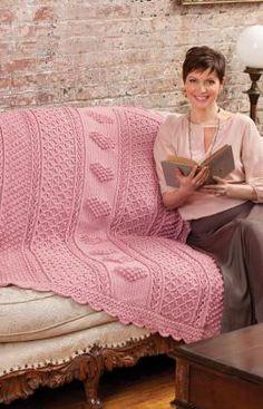 free hearts throw crochet pattern