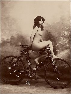 Victorian erotica. bicycles, victorian erotica, bike, vintag photographi, vintage, cycling, vintag erotica, new inventions, photography