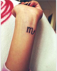 Scorpio tattoo ♏️Love the placement