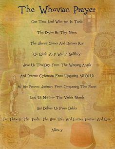 The Whovian Prayer #DoctorWho #Whovians