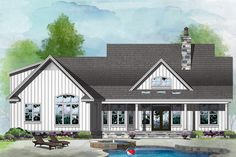 Farmhouse Style House Plan - 3 Beds 2 Baths 1645 Sq/Ft Plan #929-1055 - HomePlans.com