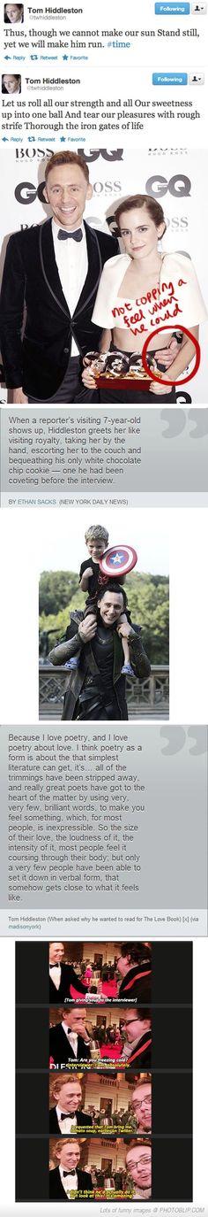 Tom Hiddleston, Everybody... :)