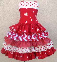 Red Hearts Valentine Dress