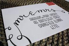 "Wedding Calligraphy Envelope Addressing ""Mr & Mrs Style"" Handwritten. Custom Addressing"