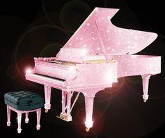 Pink Swarovski piano.