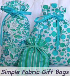 gift wrap, fabric bags, diy gifts, fabric gift bags, bag tutorials