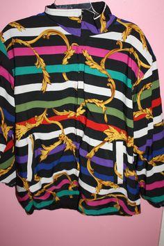 Vintage 80s 90s Style Versace like Jacket. $25.00, via Etsy.