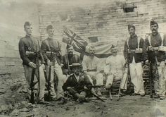 Seven members of the Royal Marine Light Infantry and one of the Naval Brigade during the Boxer Rebellion, Peking, 1900. light infantri, boxer rebellion, marin light, 1900, royal marin