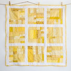 Scrappy yellow quilt